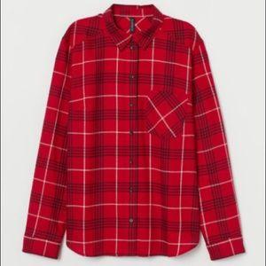 3/$25 🎁 NWT H&M Plaid Long Sleeved Shirt